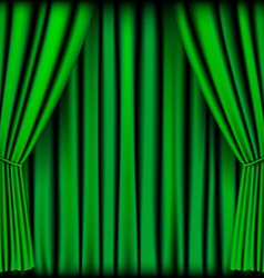 Green curtain vector