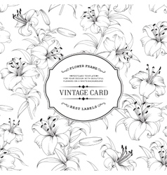 Vintage label card vector