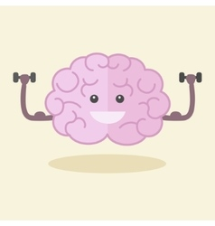 Brain training flat style vector
