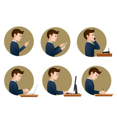 Office activities vector
