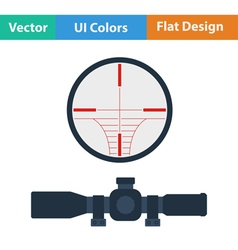 Flat design icon of scope vector