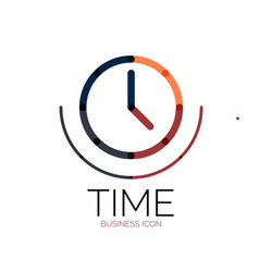 Abstract logo idea time concept or clock vector