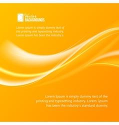 Abstract orange wind vector