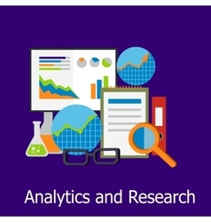 Analytics and Research Concept Design Style vector image