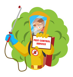 Anti microbes sanitation concept worker vector