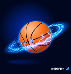 Basketball high voltage vector image