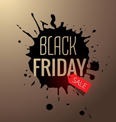 black friday sale splash design vector image