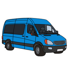 blue delivery car vector image