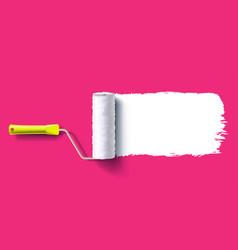 brush roller brush vector image vector image