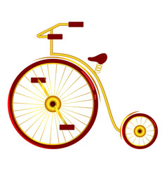 circus bike with big and small wheels vector image vector image