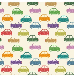 City car pattern color vector