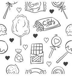 collection stock candy various doodles vector image