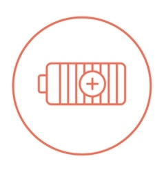 Fully charged battery line icon vector image