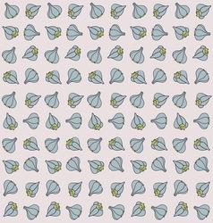 Garlic background vector image vector image