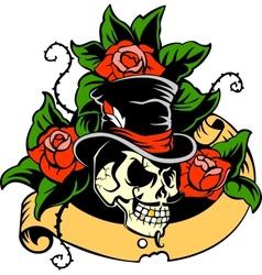 Gentlemans skull vector image