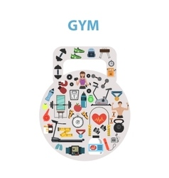 Gym Concept Flat vector image