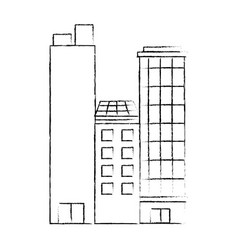 isolated city buildings vector image vector image
