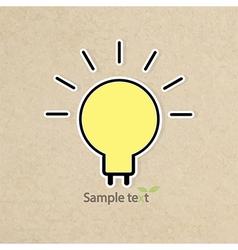Light bulb idea of grunge background paper vector