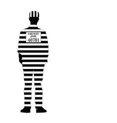 Man in jail silhouette vector