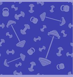 metallic dumbell seamless background vector image
