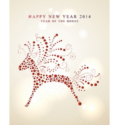 Ornament horse Chinese New Year 2014 vector image vector image