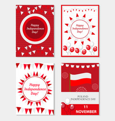poland independence day set of templates for your vector image vector image