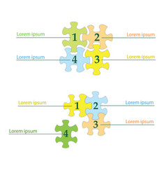 Puzzles infographics - business template vector