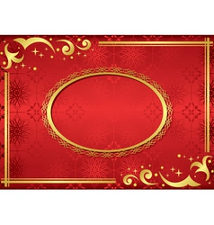 red card with golden frame vector image vector image