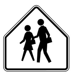School advance warning or black and white vintage vector