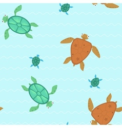 Seamless with turtles vector image