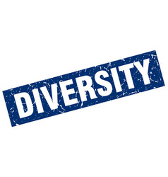 square grunge blue diversity stamp vector image vector image