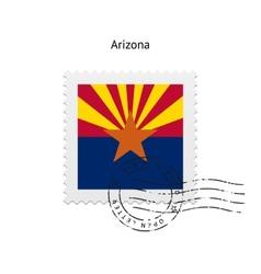 State of arizona flag postage stamp vector