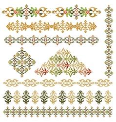 vintage border set vector image