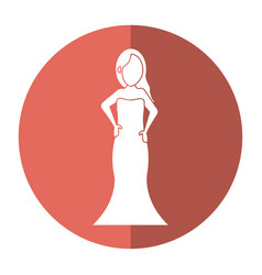 Women day girl model fashion dress shadow vector