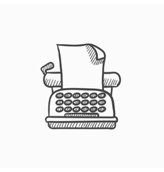 Typewriter sketch icon vector