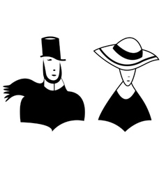Symbolic image of man and woman vector