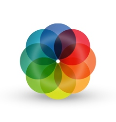 Rainbow flower balloon icons logo design vector image