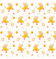 childrens pattern yellow vector image
