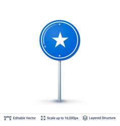somalia flag isolated on white vector image