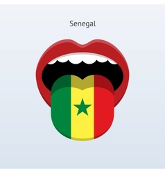 Senegal language abstract human tongue vector