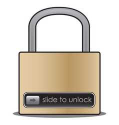 Slide to unlock vector