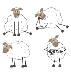 Set of funny sheep vector