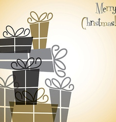 Christmas present overlay card in format vector