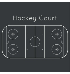 ice hockey rink vector image