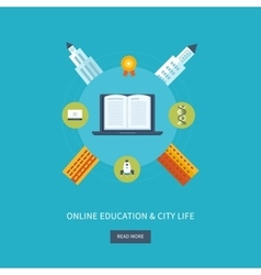 School and university building icon urban vector