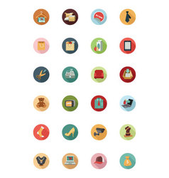 Shopping Flat Colored Icons 2 vector image