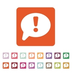 The exclamation mark icon attention speech bubble vector