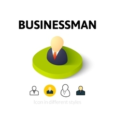 Businessman icon in different style vector