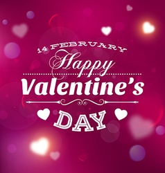 Romantic valentines card vector