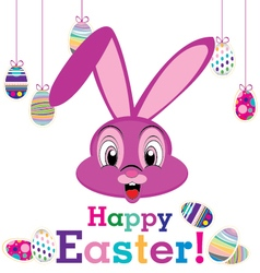 Happy easter day with animal for egg isolated on vector